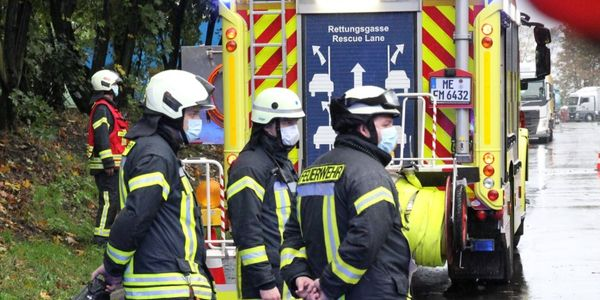 Firefighters in Mettmann, Germany, respond Wednesday morning to a foundry fire.