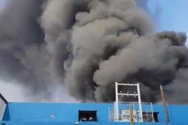 Huge Smoke Column Tops Plastics Company Fire in Mexico
