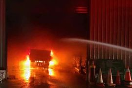 Acetylene Cylinders Ignite Inside Taiwanese Factory