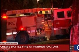 Vacant Brass Plant Swept by Flames in Connecticut