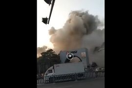 Massive Smoke Cloud Engulfs Chinese Electronics Plant