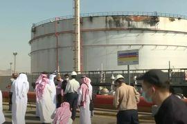 Missile Attack Damages Saudi Oil Distribution Station