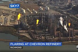 Excess Pressure Sent to Flare Stacks at Chevron Richmond