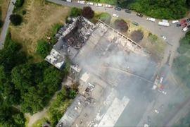 Abandoned Paper Mill Burns in Massachusetts
