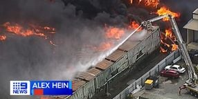 Aussies Battle Stubborn Recycling Plant Blaze in Brisbane