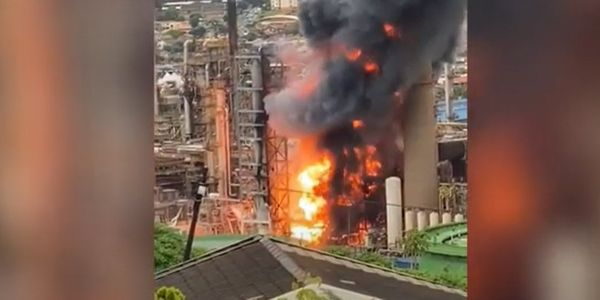 Emergency services responded to massive explosion at the Engen refinery in Durban, South Africa...