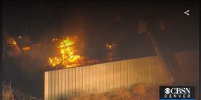 Abandoned Sugar Refinery Burns in Northern Colorado