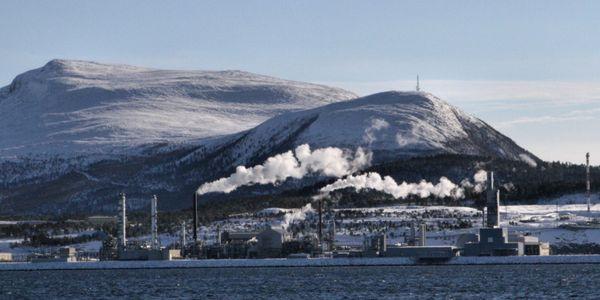 Tjeldbergodden Industrial Complex in Nordmore, Norway.
