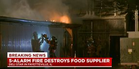 Flames Destroy Meat Processing Plant in Illinois