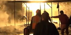 Flames Spread Through 7 Crude Storage Tanks in Syria