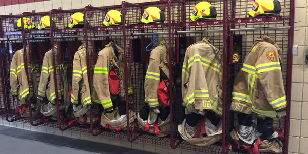 The dust samples from turnout gear locker areas had higher levels of several PFAS than the dust...