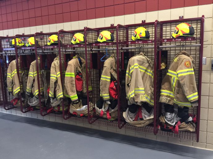 The dust samples from turnout gear locker areas had higher levels of several PFAS than the dust from the station living areas, and those PFAS were also detected on the turnout gear, based on the wipe samples. -