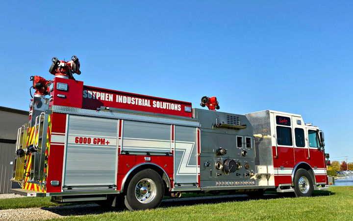 The Phillipine department imported three pumper trucks bundled with various firefighting equipment, as well as self-contained breathing apparatus, HAZMAT suits, and repair kits for all types of gas leaks. -