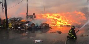 Firefighters Douse Blaze at Chicago Paper Recycling Plant