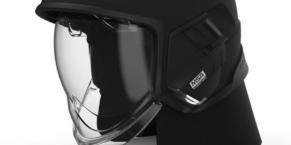 The jet-style design of the Cairns® XF1 Fire Helmet reduces snag hazards, provides a...