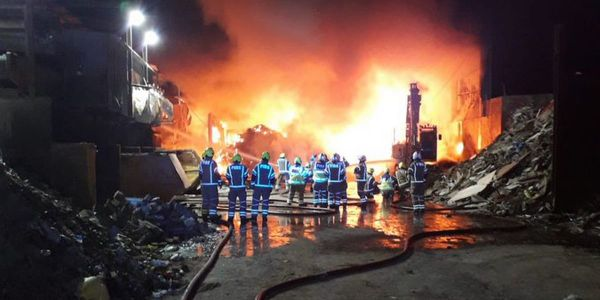 A huge fire that broke out at a recycling waste industrial estate on March 6 in North London is...
