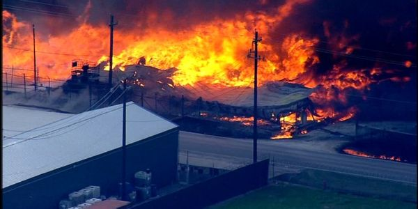 A Houston truck driver is filing a lawsuit after a massive chemical fire burned for hours at a...