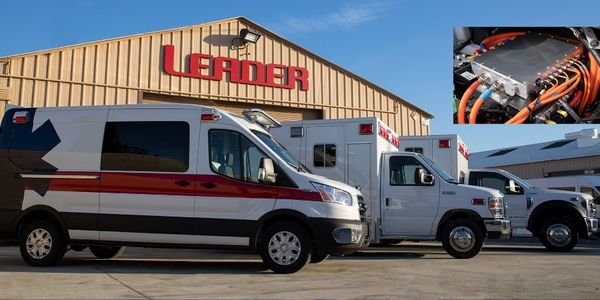 The new Leader ambulances will be based on the fourth-generation Lightning Electric Transit Van...