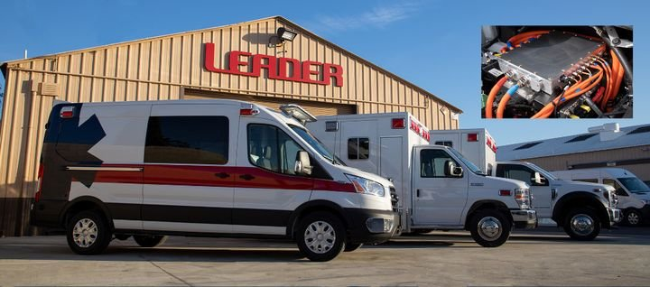 The new Leader ambulances will be based on the fourth-generation Lightning Electric Transit Van from Lightning eMotors. - Lightning eMotors