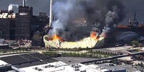 Massive Fire Breaks Out at Domino Sugar Refinery