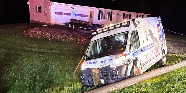 3 Trapped by Power Lines After Ambulance Accident