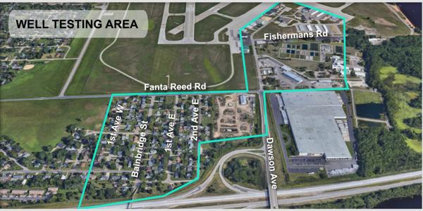 PFAS contaminated sites near La Crosse Airport.