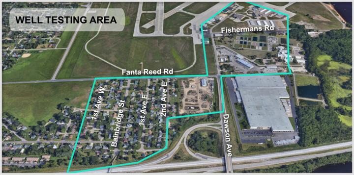 PFAS contaminated sites near La Crosse Airport. - WXOW