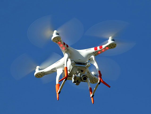 Drones are becoming an important tool in battling industrial fires. - Creative Commons