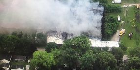 Morris Industrial Fire Continues to Burn