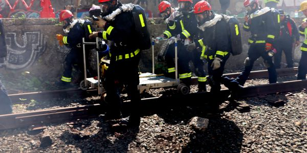 The event trained first responders on rebreather equipment in an underground environment, with...
