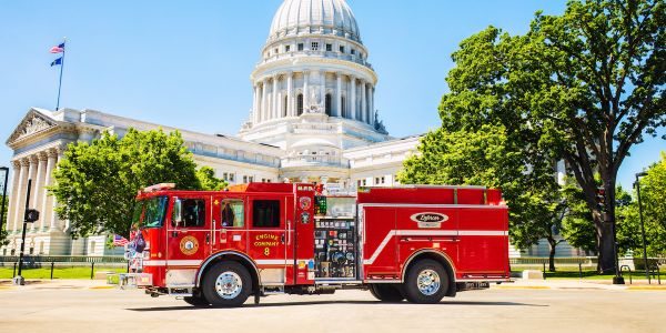 The City of Madison, Wisconsin Fire Department's Station 8 has Pierce Manufacturing's first...