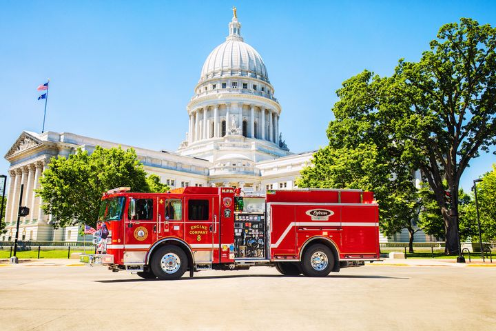 The City of Madison, Wisconsin Fire Department's Station 8 has Pierce Manufacturing's first Volterra electric vehicle in service. - Pierce Manufacturing