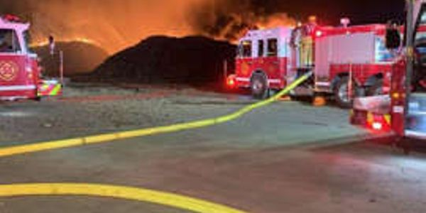 The Regina Fire Department in spent the night fighting a fire at a compound north of Evraz Steel.