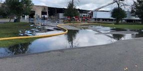 Firefighters Battle Hot Spots in Amherst IndustrialFire