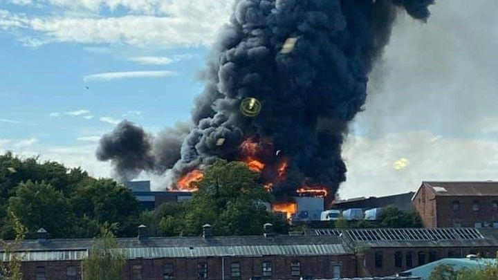 There were 100 firefighters at the scene and as of now there have been no casualties, reports BBC. - Lisa Willis, BBC