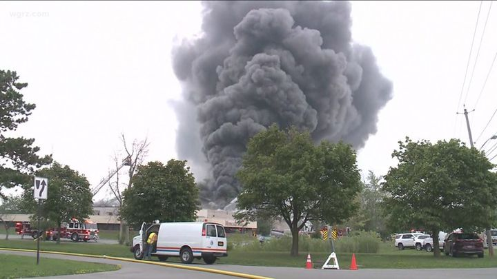 """A spill report filed by the NYSDEC reported that resins and isocyanate were stored in the building for """"blown-in insulation."""" - WGRZ"""