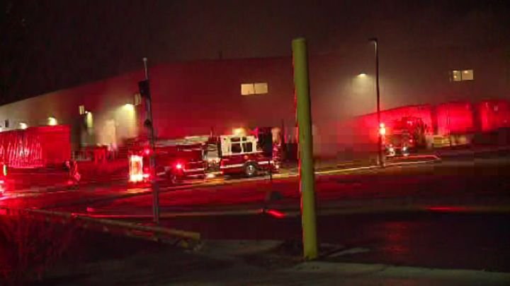 Upon arrival firefighters were met with an industrial building in full evacuation with heavy smoke showing and fire on multiple levels. - CBS58