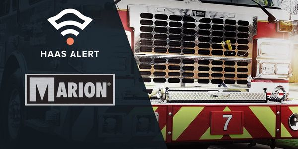 Marion Makes HAAS Alert's Safety Cloud® Standard on New Apparatus
