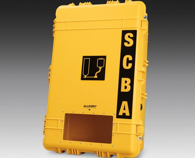 Allegro Industries' new all-weather SCBA wall case series is designed for the storage of wall-mounted SCBAs that need to withstand the harshest environmental and plant conditions. - Allegro Industries