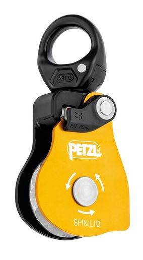 The SPIN L1 provides maximum simplicity intended for hauling or load deviation systems, and tyroleans. - Petzl