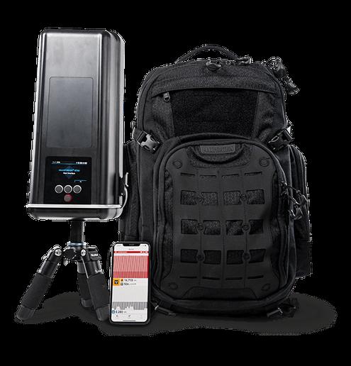 The identiFINDER®R700 Backpack Radiation Detector is a mobile system for radiological monitoring. - Teledyne FLIR
