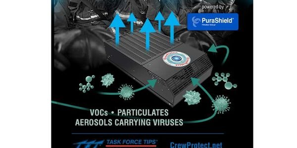 CrewProtect rapidly filters cancer-causing particulate soot and VOCs (Volatile Organic...