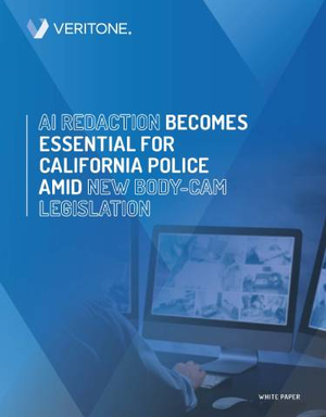 AI Redaction & California's New Body Camera Legislation