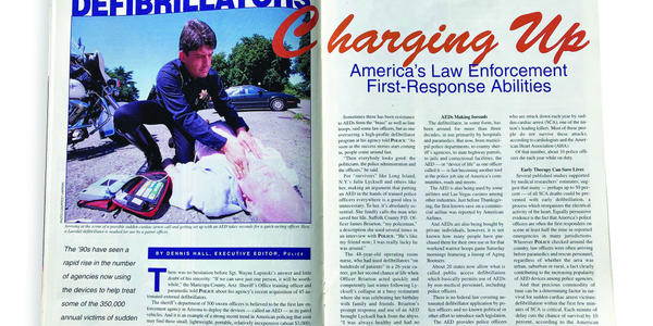 The cover story for January 1999 discussed law enforcement agencies beginning to acquire, and...