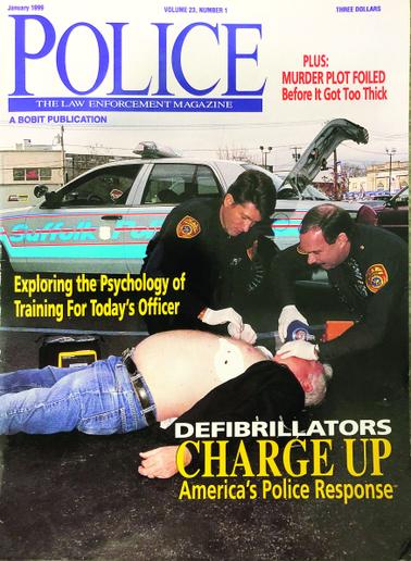 January 1999 cover of POLICE Magazine  - photo of magazine