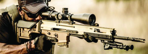 FN's SCAR 20S precision rifle.
