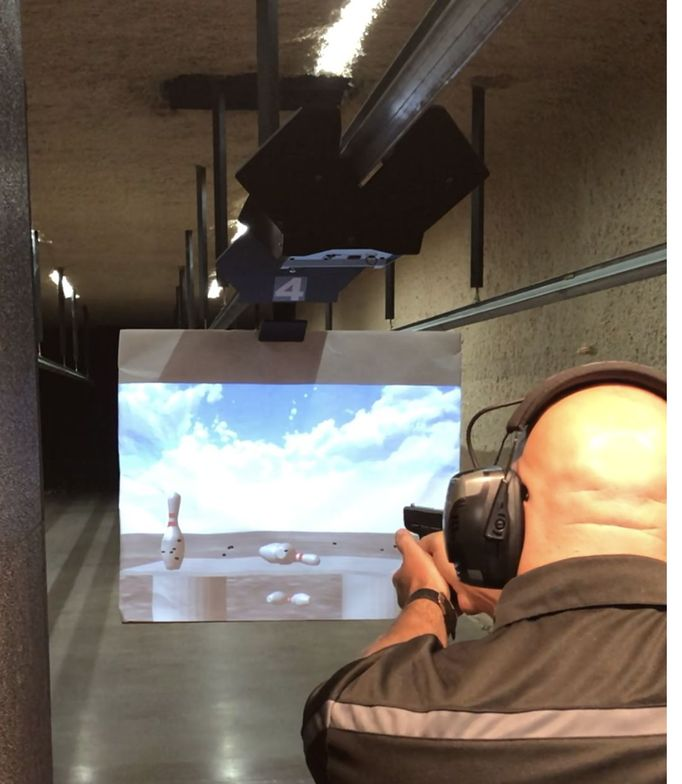 Meggitt Training Systems' XWT ProImage projected target system is a compact video projector and...