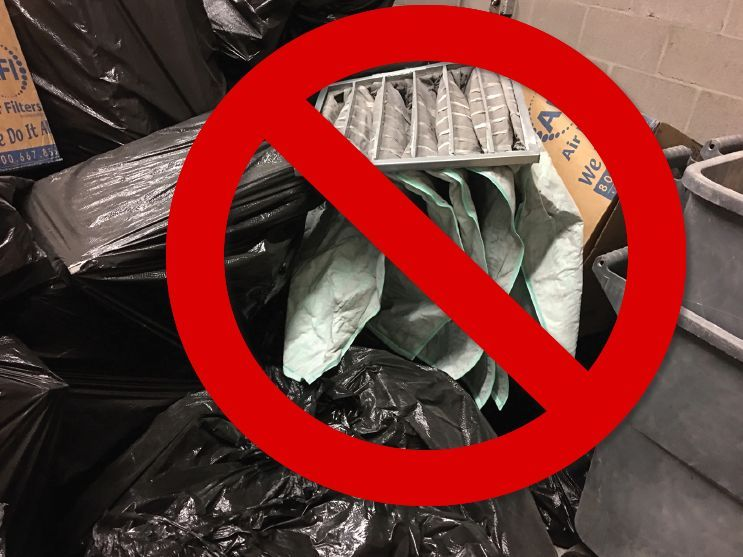 Improperly managed range waste such as filters, debris, soil, or other backstop material like...