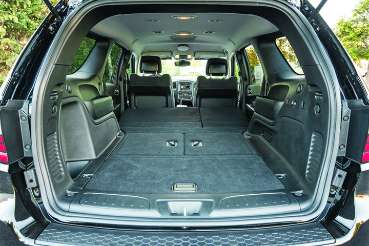 The back of the 2019 Dodge Durango Pursuit provides enough cargo space to make it a good fit for K-9 use.