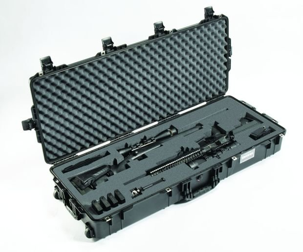 The Pelican Air 1745 Long Case is much lighter than even smaller Pelican cases, and it can fit two rifles.